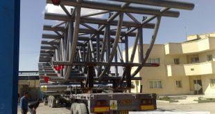 ساخت خرپای فضایی لوله ای بندر شهید بهشتی چابهار